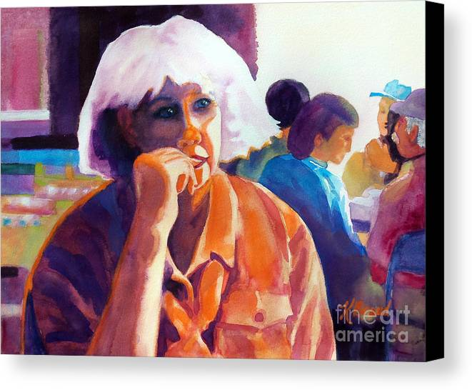 Paintings Canvas Print featuring the painting I've Got A Secret by Kathy Braud