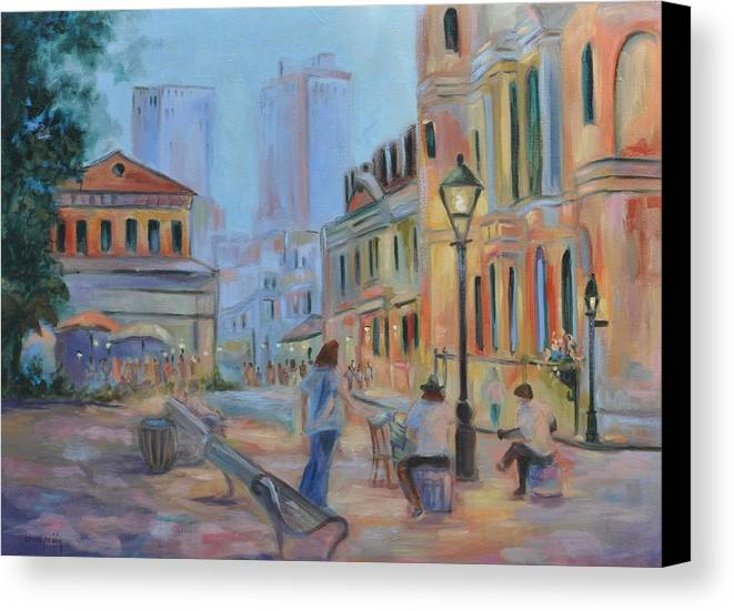 New Orleans Canvas Print featuring the painting Jackson Square Musicians by Ginger Concepcion