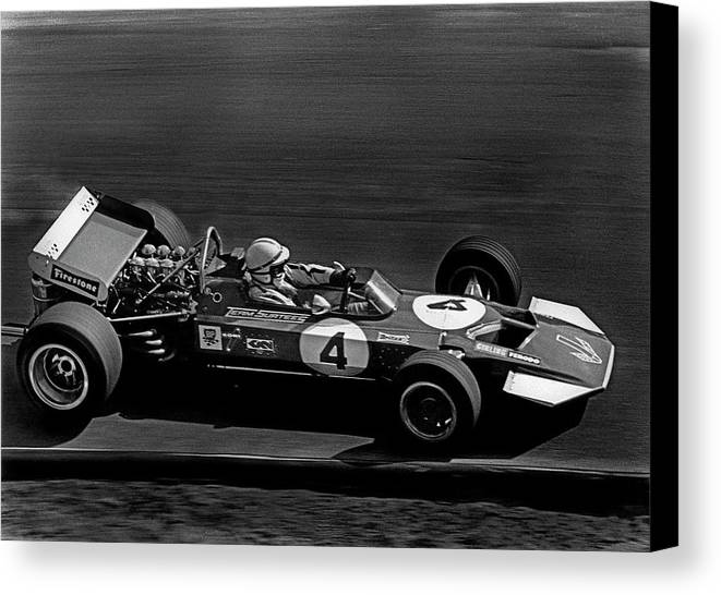 John Surtees Canvas Print featuring the photograph John Surtees 5 by Mike Flynn