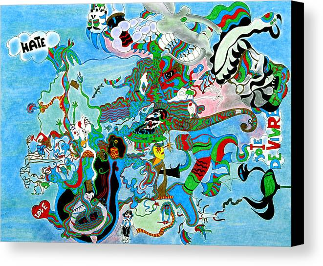 Abstract Canvas Print featuring the print Joy Of Life by William Watson