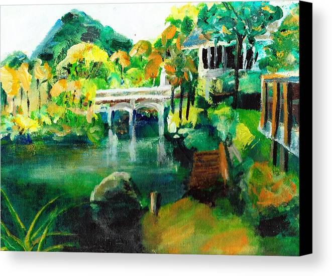 Lake Canvas Print featuring the painting Lake Malibu by Randy Sprout