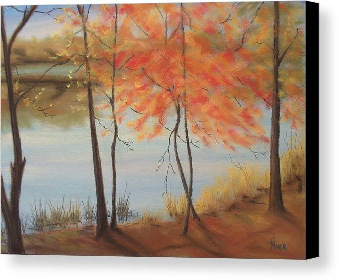 Fall Foliage Canvas Print featuring the painting Lakeside Dancers IIII by Pete Maier