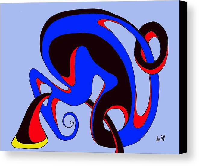 \ Canvas Print featuring the digital art Life Circuits by Helmut Rottler