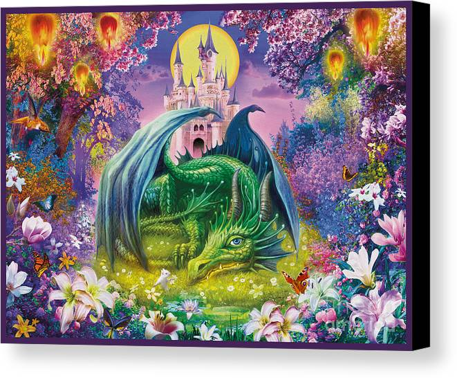 Jan Patrik Krasny Canvas Print featuring the digital art Little Dragon by Jan Patrik Krasny
