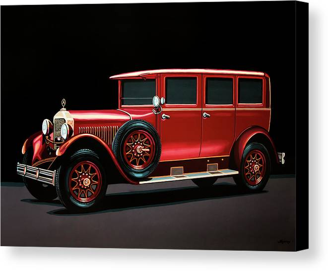 Mercedes-benz Typ 300 Canvas Print featuring the painting Mercedes-benz Typ 300 Pullman Limousine 1926 Painting by Paul Meijering