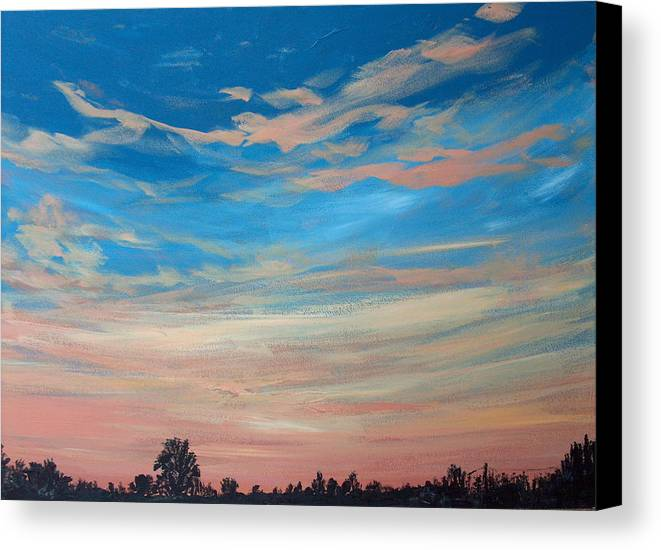 Sunrise Canvas Print featuring the painting Mornin Iv by Pete Maier