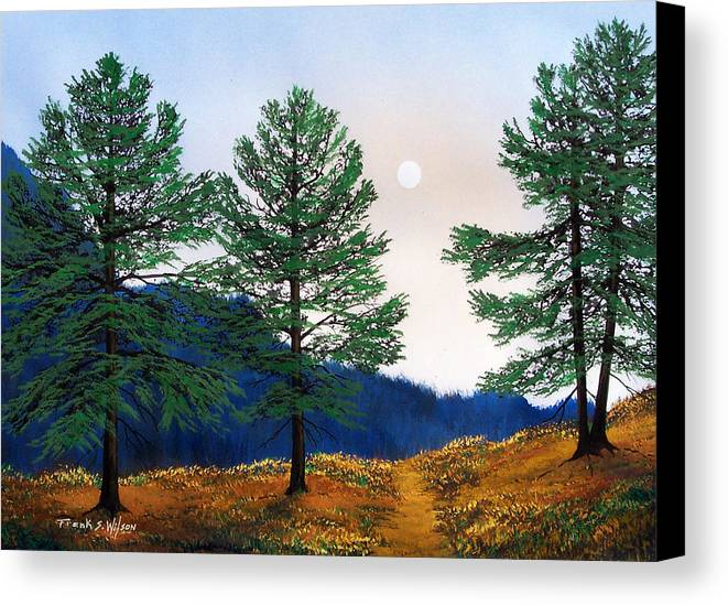 Canvas Print featuring the painting Mountain Pines by Frank Wilson