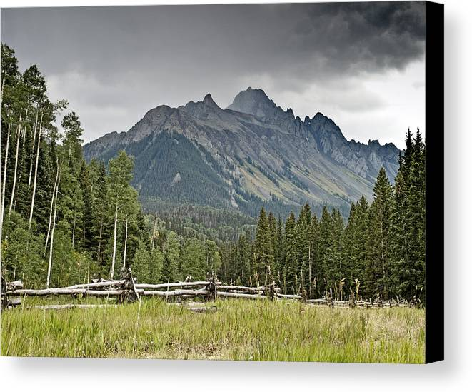 Sneffels Canvas Print featuring the photograph Mt Sneffels In The Colorado Rocky Mountains by Brendan Reals