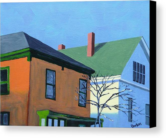 Maine Canvas Print featuring the painting Munjoy Morning by Laurie Breton