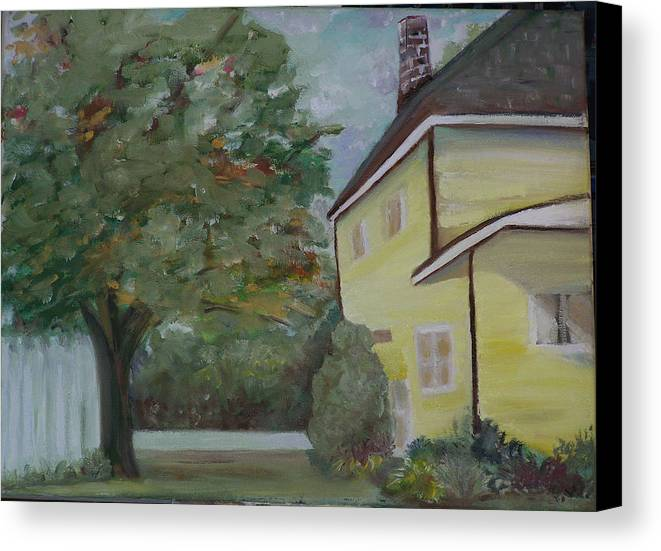 Oil Painting Canvas Print featuring the painting Nh Home by Pamela Wilson