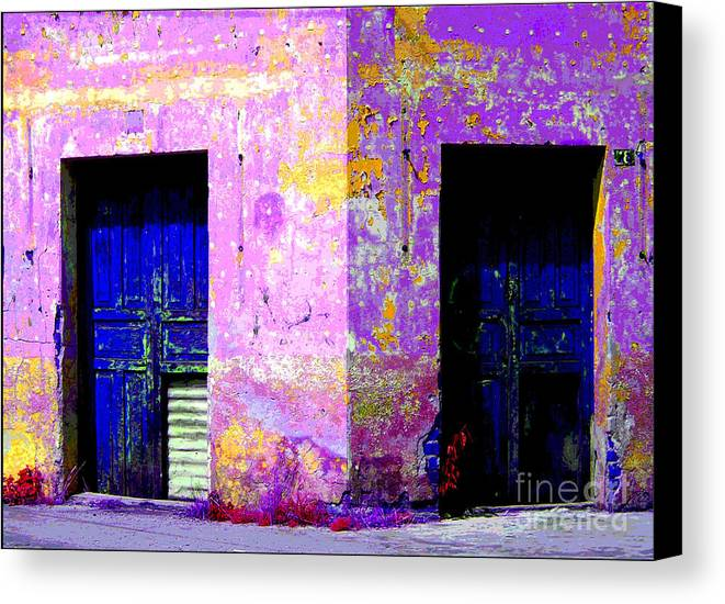 Darian Day Canvas Print featuring the photograph Old Door 3 By Darian Day by Mexicolors Art Photography