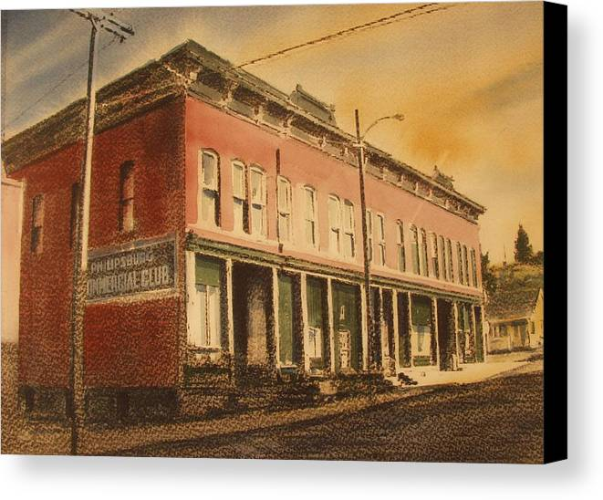 Historic Canvas Print featuring the painting Opera House Philipsburg Montana by Kevin Heaney