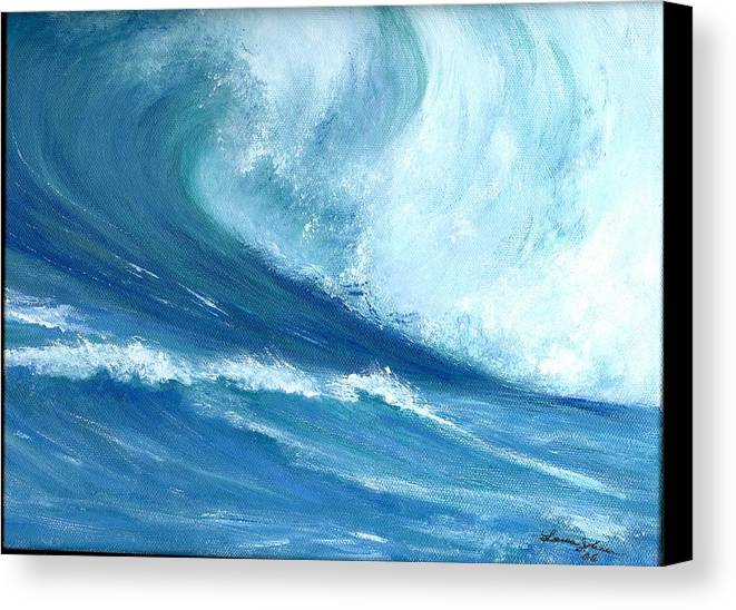 Wave Canvas Print featuring the painting Outside Looking In by Laura Johnson