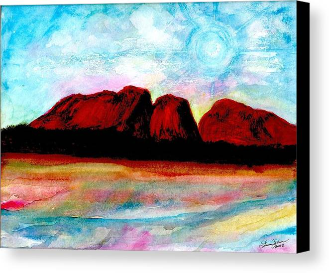Dreamscape Canvas Print featuring the painting Ozzzzzzzzzz by Laura Johnson