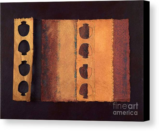 Pageformat Canvas Print featuring the mixed media Page Format No 3 Tansitional Series  by Kerryn Madsen-Pietsch