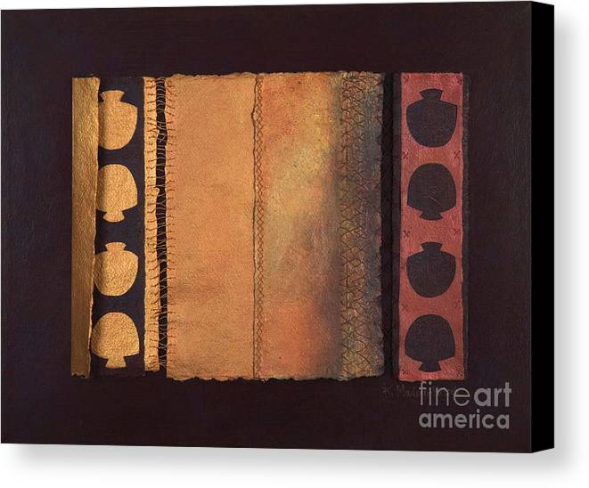 Artistbook Canvas Print featuring the painting Page Format No.4 Tansitional Series by Kerryn Madsen-Pietsch