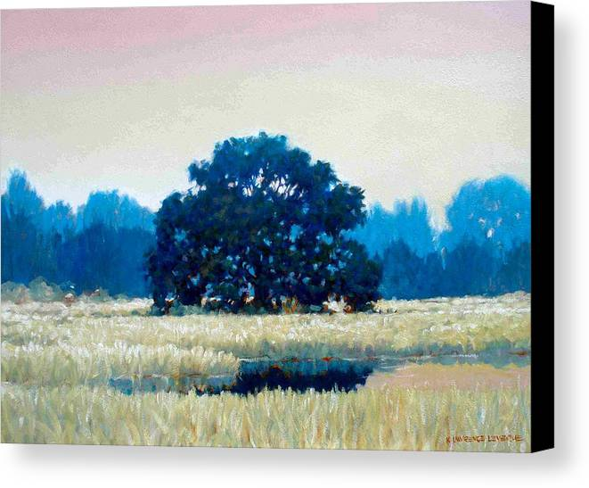 Oak Canvas Print featuring the painting Peggys Oak by Kevin Lawrence Leveque