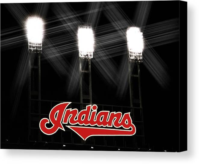 Cleveland Canvas Print featuring the photograph Play Ball by Kenneth Krolikowski