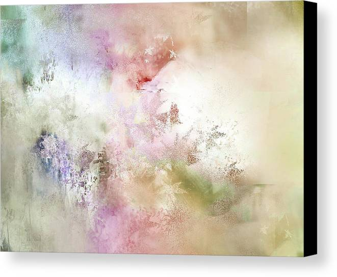 Davina Nicholas Canvas Print featuring the painting Primordial Elements by Davina Nicholas