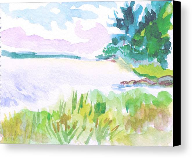 Landscape Canvas Print featuring the painting Recompense by Gail Wartell