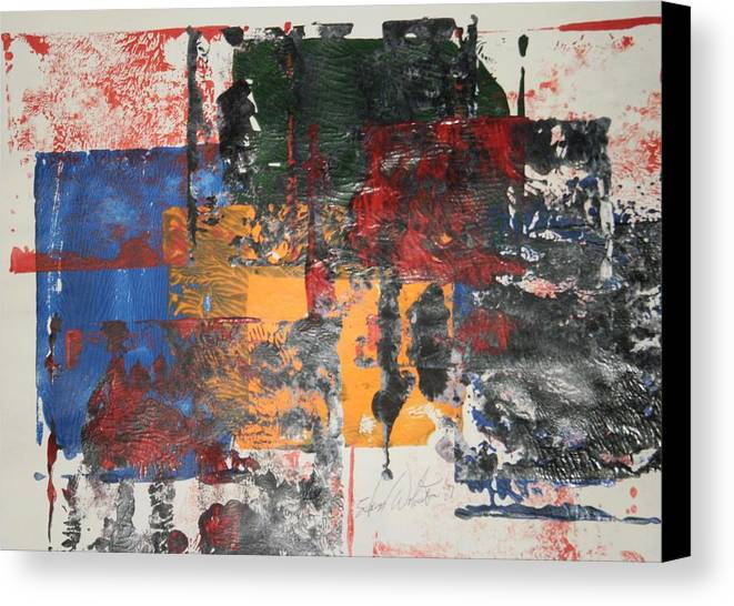 Abstract Canvas Print featuring the painting Remembering Kent State by Edward Wolverton