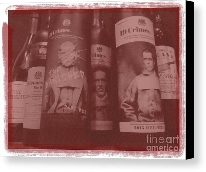 Wine Canvas Print featuring the photograph Scene O Noir by Barbie Corbett-Newmin