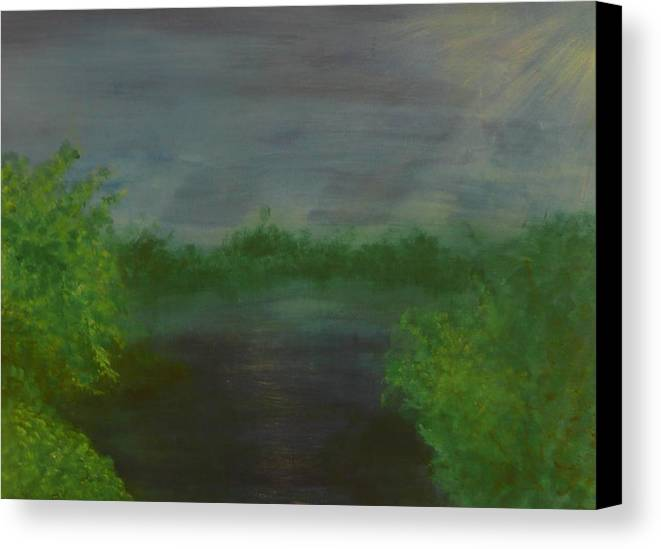 Landscape Canvas Print featuring the painting Serenity by Jennifer Hernandez