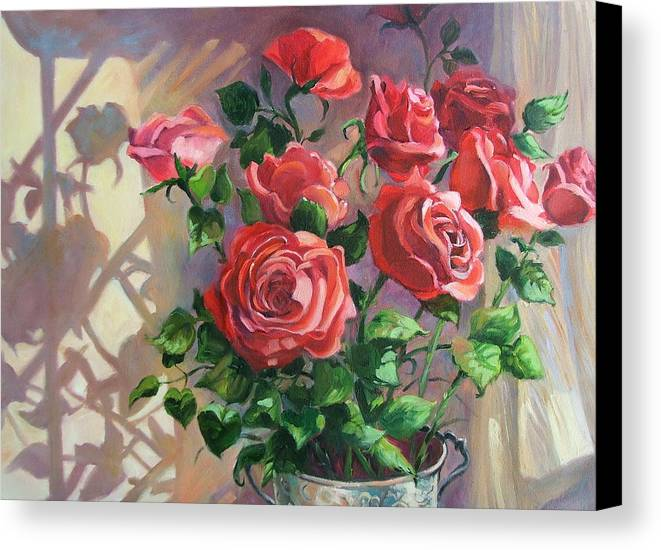 Oil Painting Canvas Print featuring the painting Shadows On The Wall by Dianna Willman