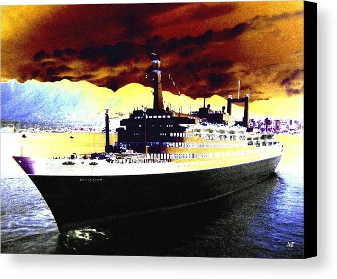 S S Rotterdam Canvas Print featuring the digital art Shipshape 3 by Will Borden