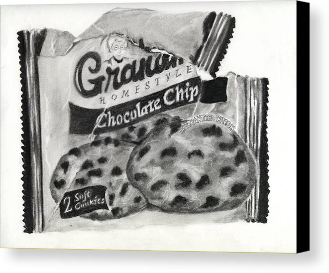 Cookies Canvas Print featuring the drawing Snack Time by Penny Everhart
