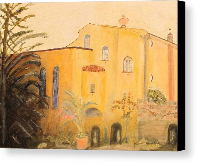 Italy Canvas Print featuring the painting Sorrento Home by Keith Bagg