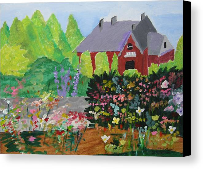 Gardens Canvas Print featuring the painting Spring Garden by Jeff Caturano