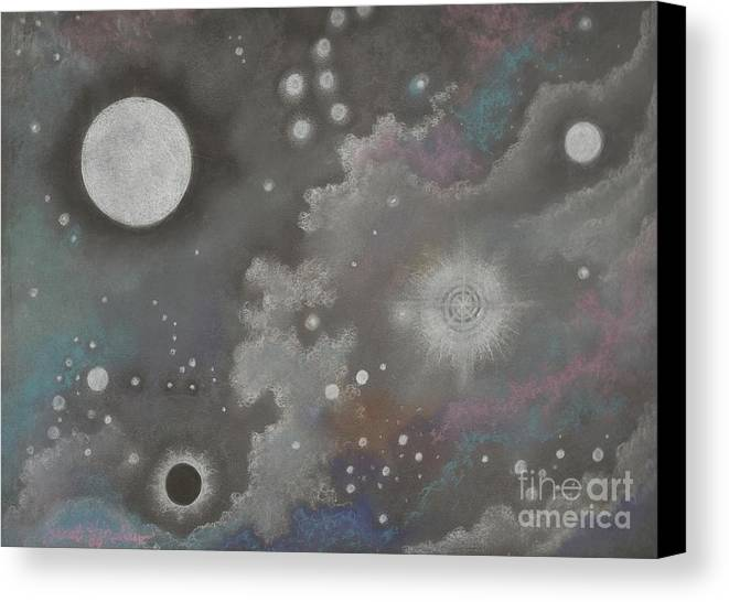 Atmospheric Canvas Print featuring the drawing Stardust by Janet Hinshaw