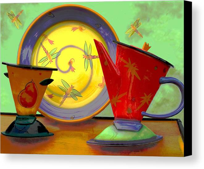 Dragonflys Canvas Print featuring the photograph Still Life One by Jeff Burgess
