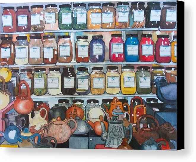 Spice Canvas Print featuring the painting Sugar And Spice by Victoria Heryet