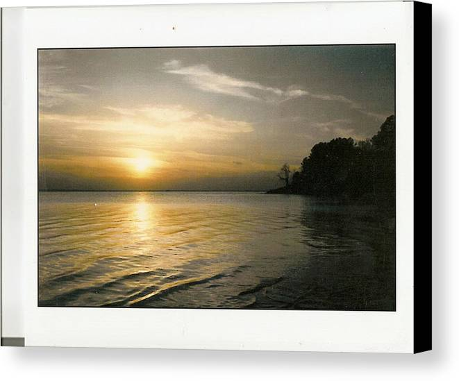 Beautiful Canvas Print featuring the photograph Sunset On The James by Anne-Elizabeth Whiteway