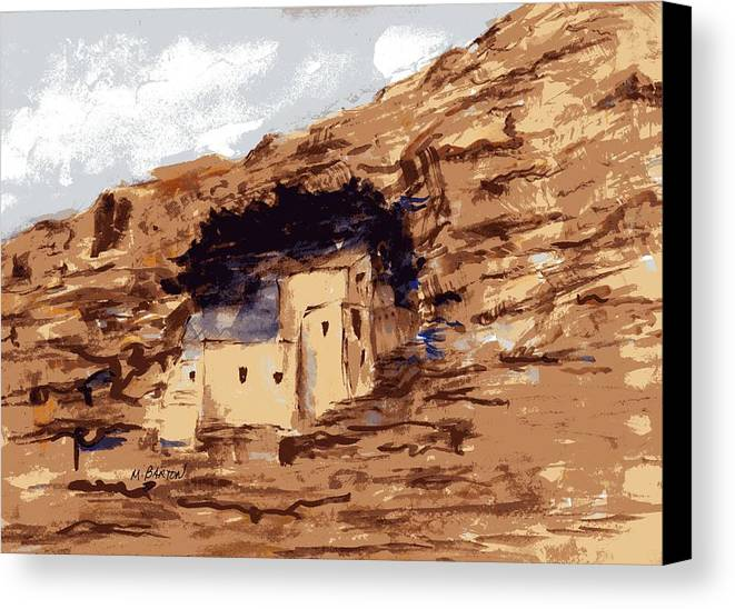 Landscape Canvas Print featuring the painting The Castle by Marilyn Barton