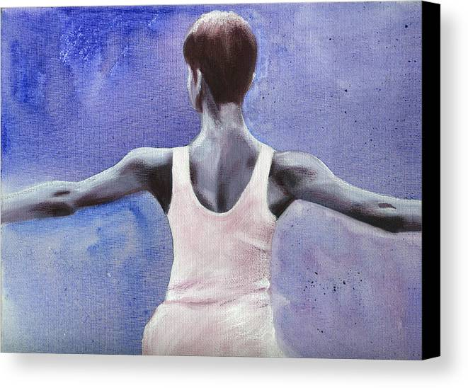 Dancer Canvas Print featuring the painting The Dancer by Fiona Jack