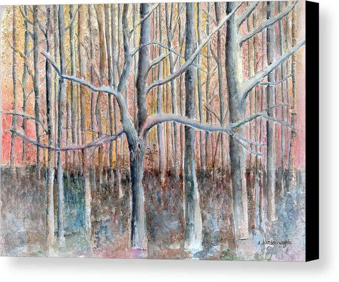 Forest Canvas Print featuring the painting The Forest For The Trees by Arline Wagner