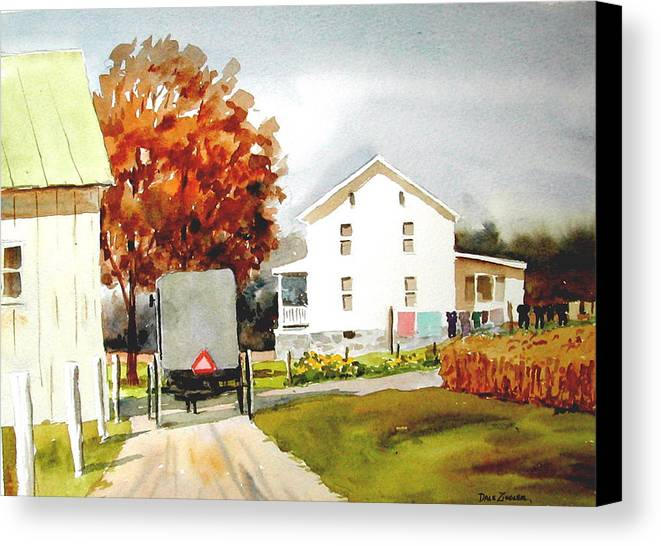Amish Canvas Print featuring the painting The Homestead by Faye Ziegler
