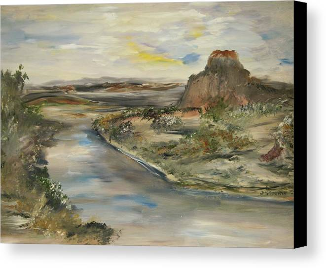 Landscape Canvas Print featuring the painting The Lost World by Edward Wolverton