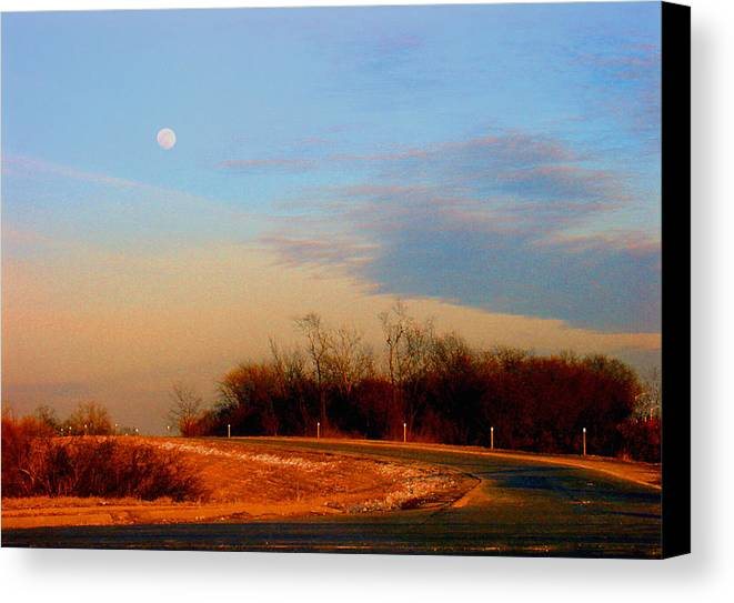 Landscape Canvas Print featuring the photograph The On Ramp by Steve Karol