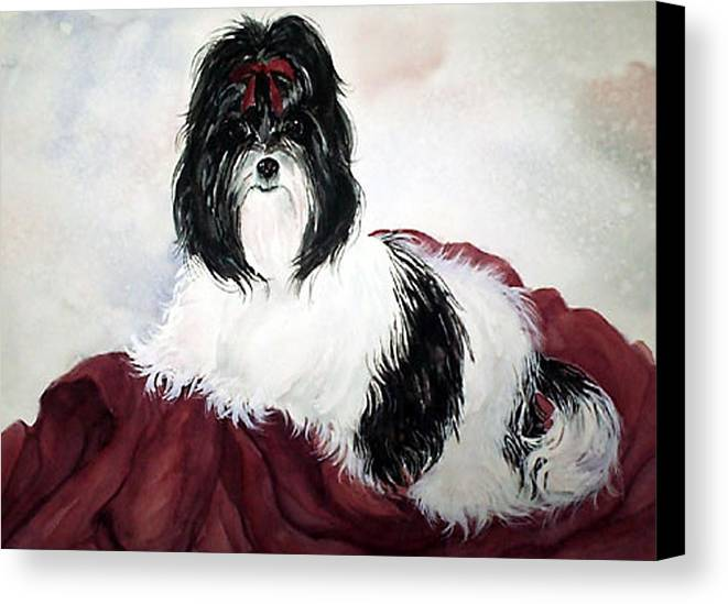 Canine Canvas Print featuring the painting The Princess by Gina Hall