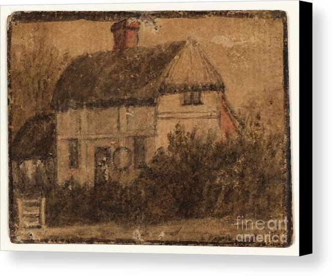 Susanna Duncombe (n�e Susanna Highmore) 1725�1812 Title A Cottage Canvas Print featuring the painting Title A Cottage by MotionAge Designs