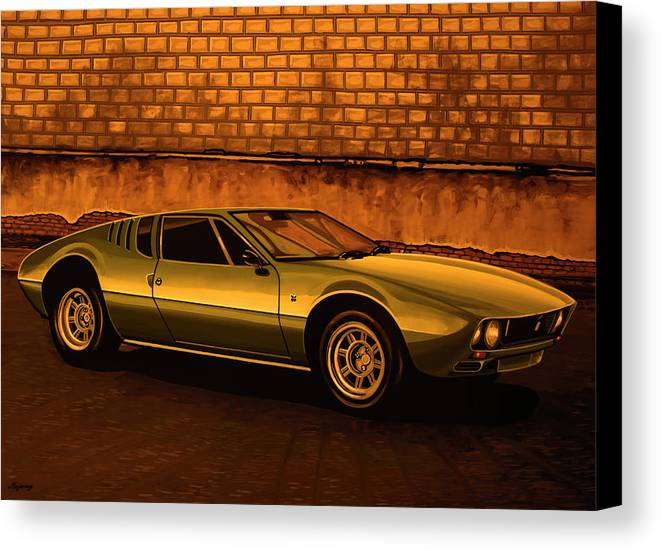 Tomaso Mangusta Canvas Print featuring the painting Tomaso Mangusta Mixed Media by Paul Meijering