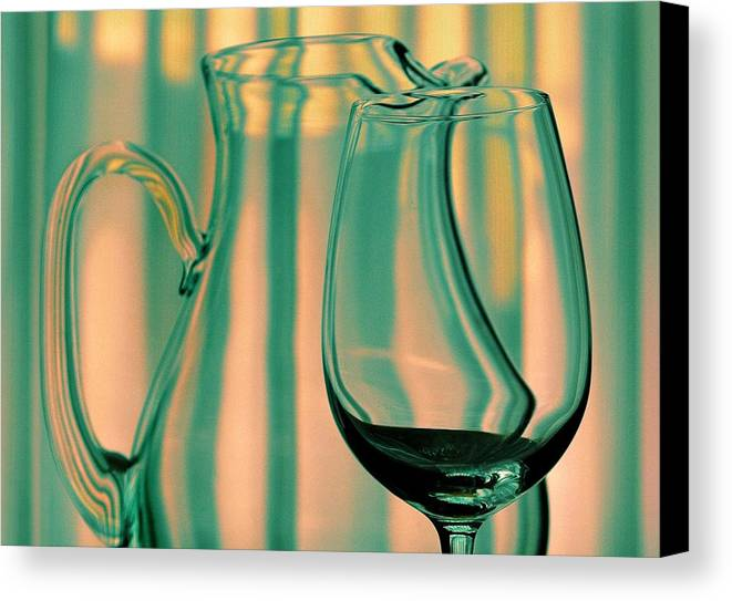 Still Life Canvas Print featuring the photograph Vase And Glass by Dan Holm