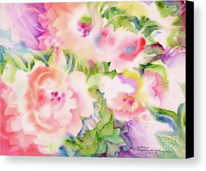 Flowers Canvas Print featuring the painting Whimsy by Kathleen Berry Bergeron