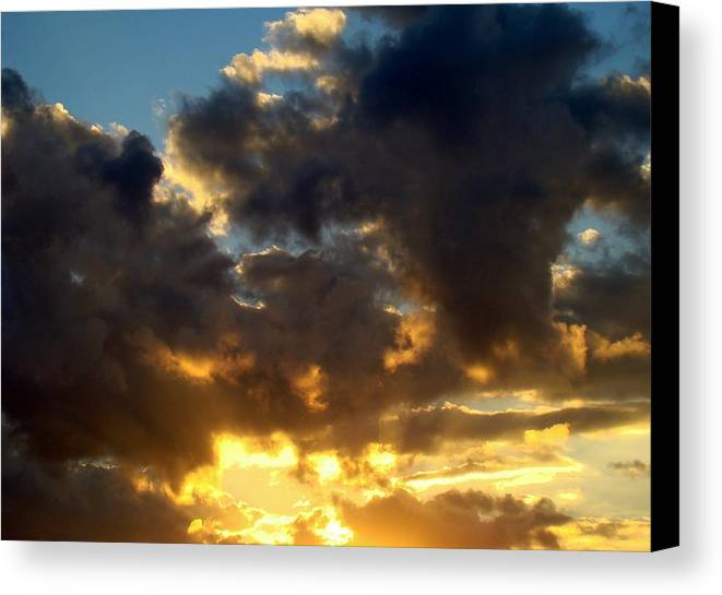 Clouds Canvas Print featuring the photograph Winter Sunset Three by Ana Villaronga