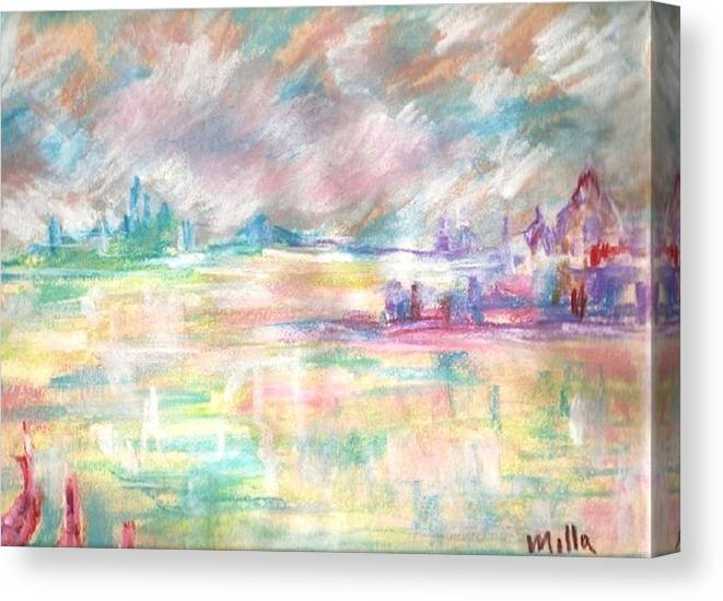 Reflections Canvas Print featuring the painting Venice by Milla Nuzzoli