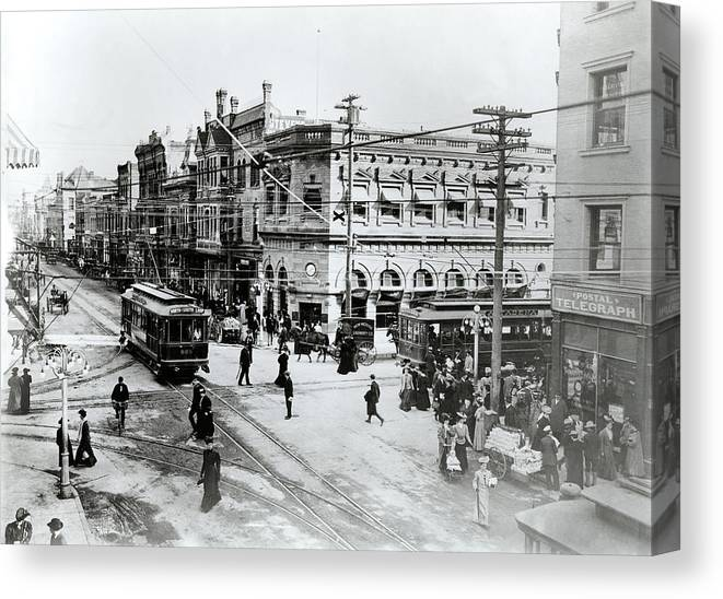 Photography Canvas Print featuring the photograph 1900s Intersection Of Fair Oaks by Vintage Images
